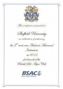New AAIs certificate 2013