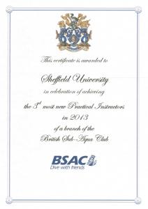 New practical instructors certificate 2013